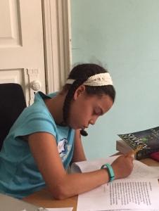 Charlotte starts her novel...